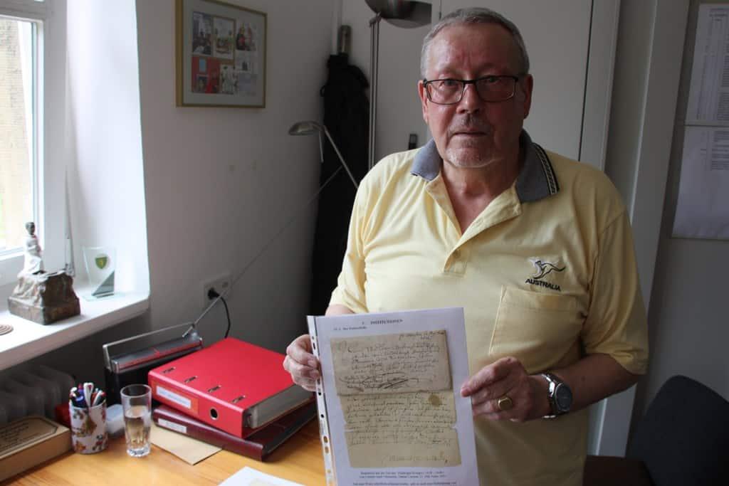 . Das älteste Dokument des Ur-Limmeraners ist ein Brief aus dem 17. Jahrhundert.