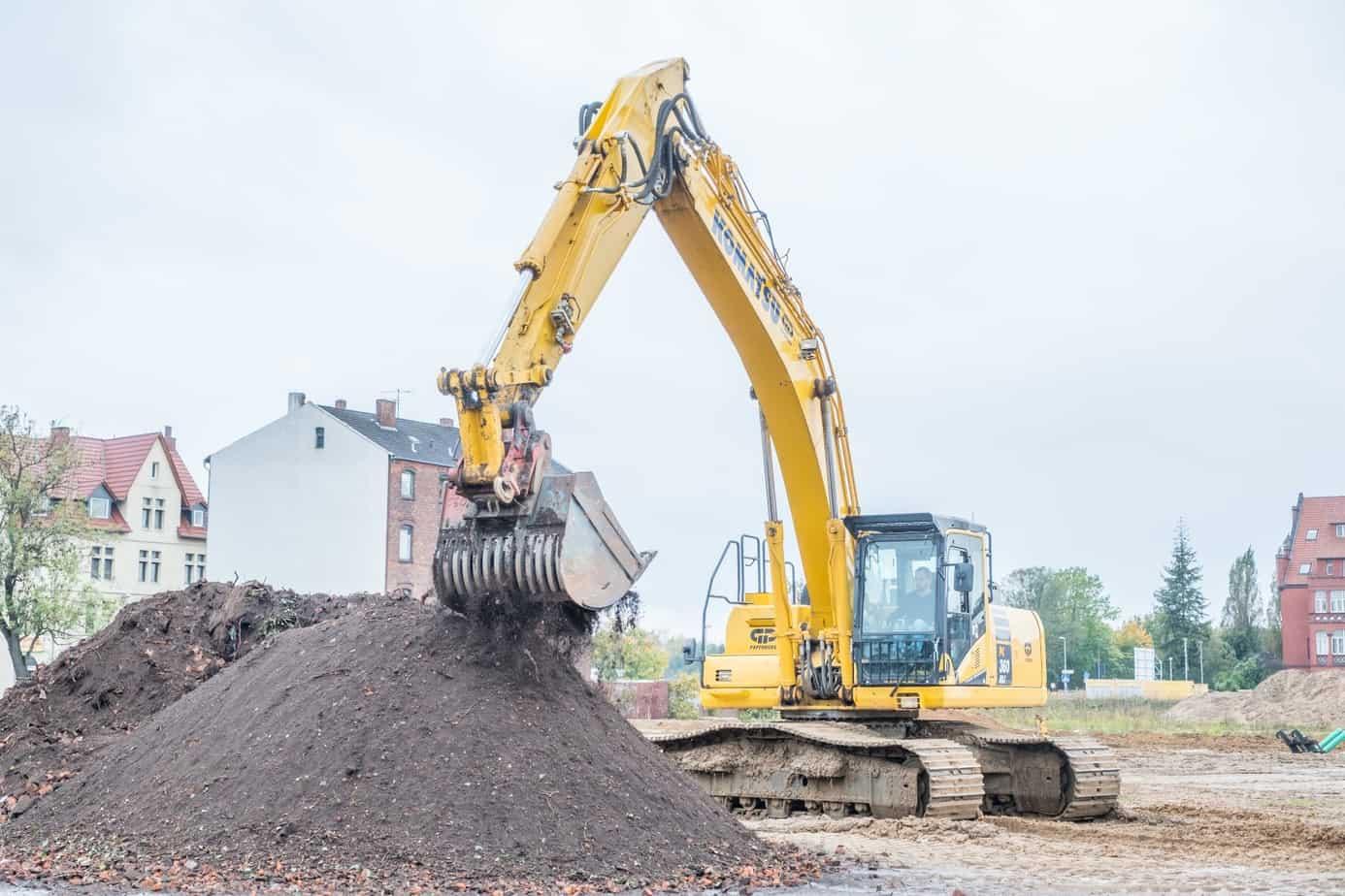 Wasserstadt Ausprobiert Baggern auf der Baustelle
