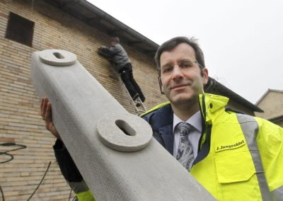 Jörg Jungesblut, seit Kurzem neben Günter Papenburg und Martin Pietsch ebenfalls Geschäftsführer der Wasserstadt Limmer Projektentwicklungsgesellschaft (WLEG) .