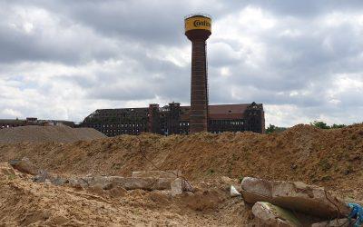 Was soll der neue Sandwall auf dem Wasserstadtgelände?